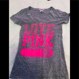 Grey v neck shirt from Pink Victoria's secret